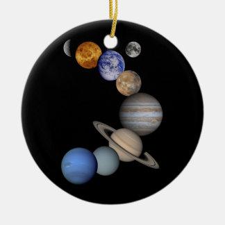 Sonnensystemplanetenuniversum Rundes Keramik Ornament