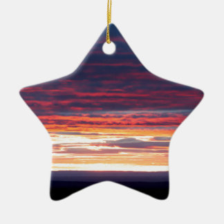 Sonnenuntergang am Grand Canyon Keramik Stern-Ornament