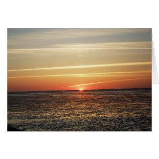 Sonnenuntergang am Meer Watt Ebbe Karten