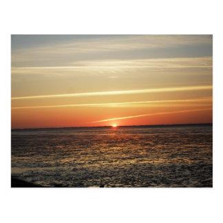 Sonnenuntergang am Meer Watt Ebbe Postkarten