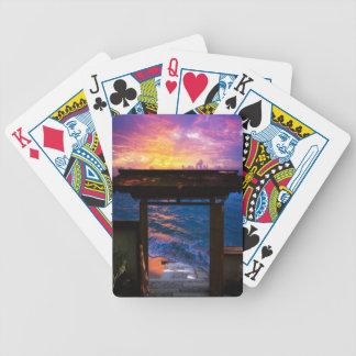Sonnenuntergang an der Paradies-Bucht Bicycle Spielkarten
