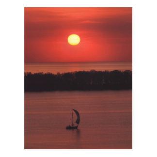 Sonnenuntergang an der Presque Insel-Postkarte Postkarte