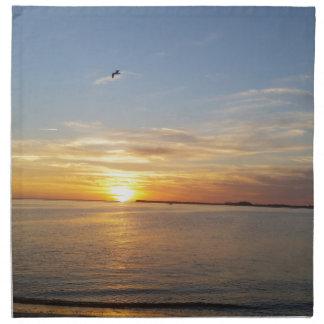 Sonnenuntergang auf Danksagung Bedruckte Serviette