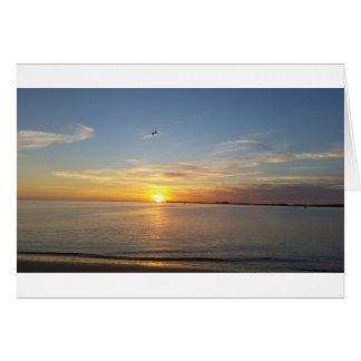 Sonnenuntergang auf Danksagung Grußkarte