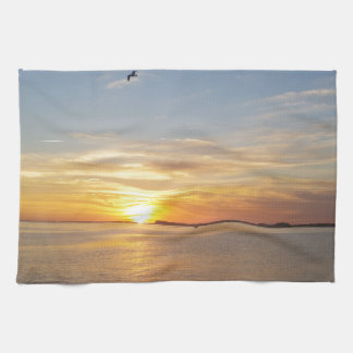 Sonnenuntergang auf Danksagung Handtücher
