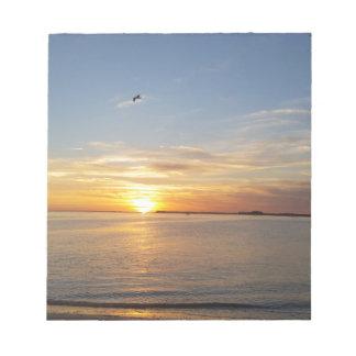 Sonnenuntergang auf Danksagung Memo Blöcke