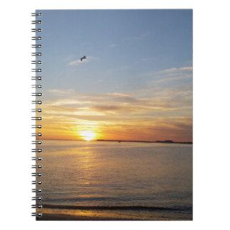 Sonnenuntergang auf Danksagung Notizbuch