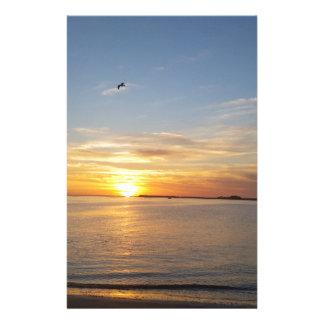 Sonnenuntergang auf Danksagung Personalisierte Büropapiere