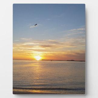 Sonnenuntergang auf Danksagung Platte