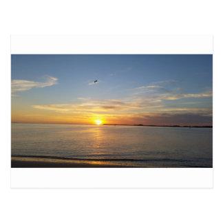 Sonnenuntergang auf Danksagung Postkarte