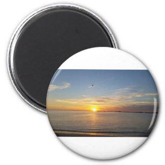 Sonnenuntergang auf Danksagung Runder Magnet 5,1 Cm