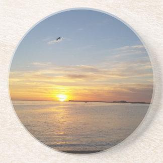 Sonnenuntergang auf Danksagung Sandstein Untersetzer