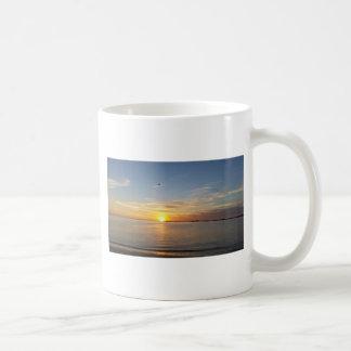 Sonnenuntergang auf Danksagung Tasse
