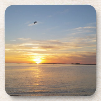 Sonnenuntergang auf Danksagung Untersetzer
