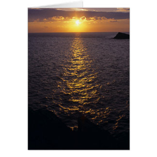 Sonnenuntergang auf dem Meer Karte