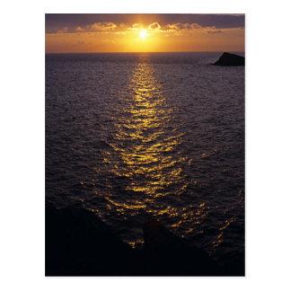 Sonnenuntergang auf dem Meer Postkarte