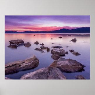 Sonnenuntergang auf Lake Tahoe Poster
