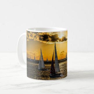 Sonnenuntergang - Boote Kaffeetasse