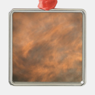 Sonnenuntergang durch Wolken Silbernes Ornament