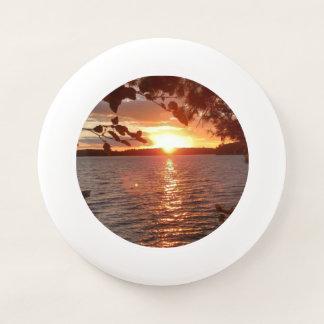 Sonnenuntergang Frisbee