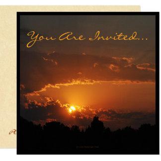 Sonnenuntergang-goldene Strahlen Karte