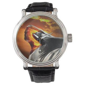 Sonnenuntergang-Hauptpontiac- Armbanduhr