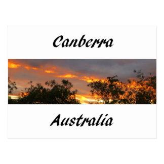 Sonnenuntergang in Canberra Postkarte