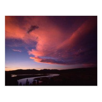 Sonnenuntergang in der Hayden Tal-Postkarte Postkarte