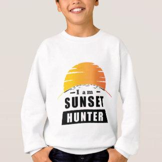 Sonnenuntergang-Jäger für Fotografen Sweatshirt