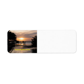 Sonnenuntergang Key West Florida Kleiner Adressaufkleber
