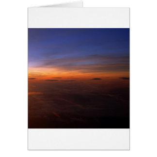 Sonnenuntergang-lila Atmosphäre Karte