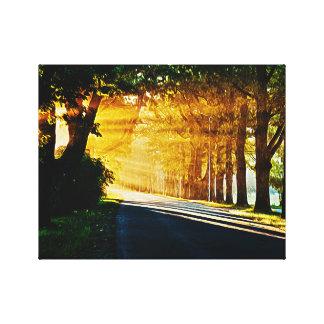 Sonnenuntergang-Malerei Leinwanddruck