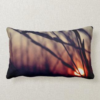Sonnenuntergang-Natur-Gras-lumbales Kissen 33 cm x