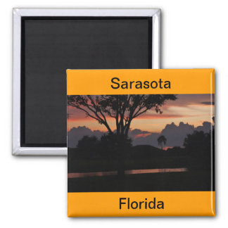 Sonnenuntergang Sarasota, Florida über Quadratischer Magnet