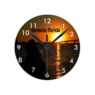 Sonnenuntergang Sarasota Florida Wanduhren