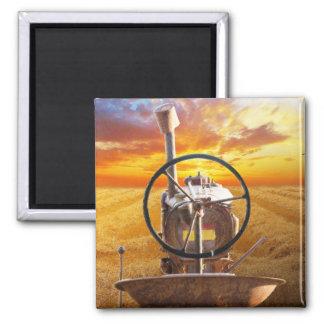 Sonnenuntergang-Traktor-Entwurf Quadratischer Magnet