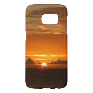 Sonnenuntergang tropischen orange Meerblick am