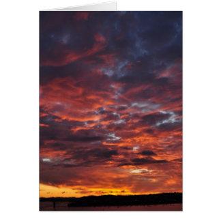 Sonnenuntergang über Auckland Karte