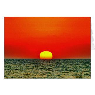 Sonnenuntergang über dem MED Karte