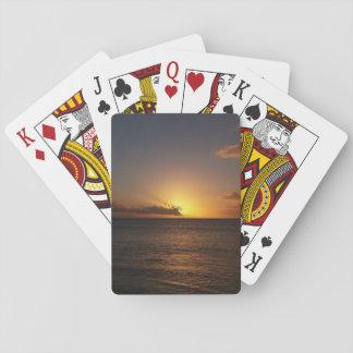 Sonnenuntergang über den Ozean-Spielkarten Spielkarten