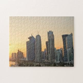 Sonnenuntergang über Doha, Qatar Puzzle