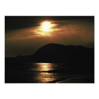 Sonnenuntergang über Lyme Regis Fotografien