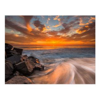 Sonnenuntergang von Tamarach Strand Postkarte