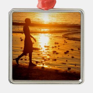 Sonnenuntergangweg Silbernes Ornament