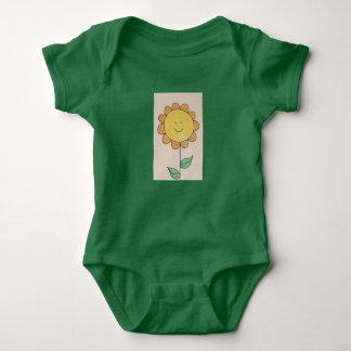 sonnige Sonnenblume Baby Strampler