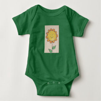sonnige Sonnenblume Babybody