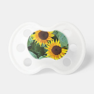 Sonnige Sonnenblumen Baby Schnuller