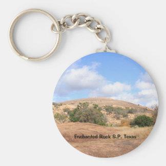 Sonniger rustikaler verzauberter Felsen-Park Texas Schlüsselanhänger