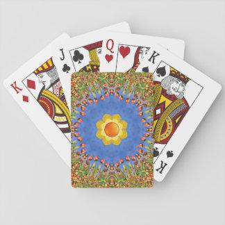 Sonniger Tagesbunte Spielkarten