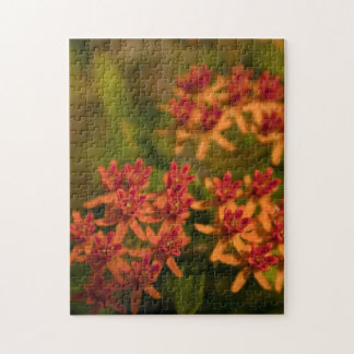 Sonniges orange Blumen-Foto Puzzle